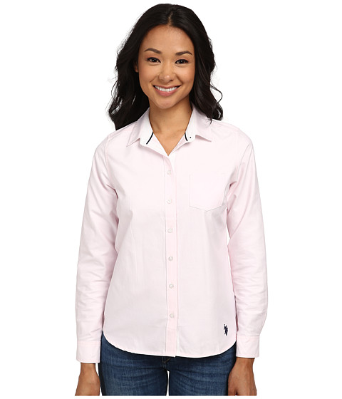 U.S. POLO ASSN. - Oxford Shirt (Coastal Pink) Women's Clothing