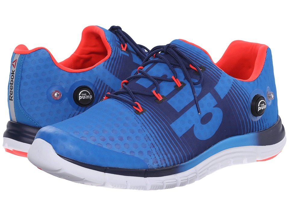 Reebok - ZPump Fusion (Cycle Blue/Club Blue/Neon Cherry/White) Men's Cross Training Shoes