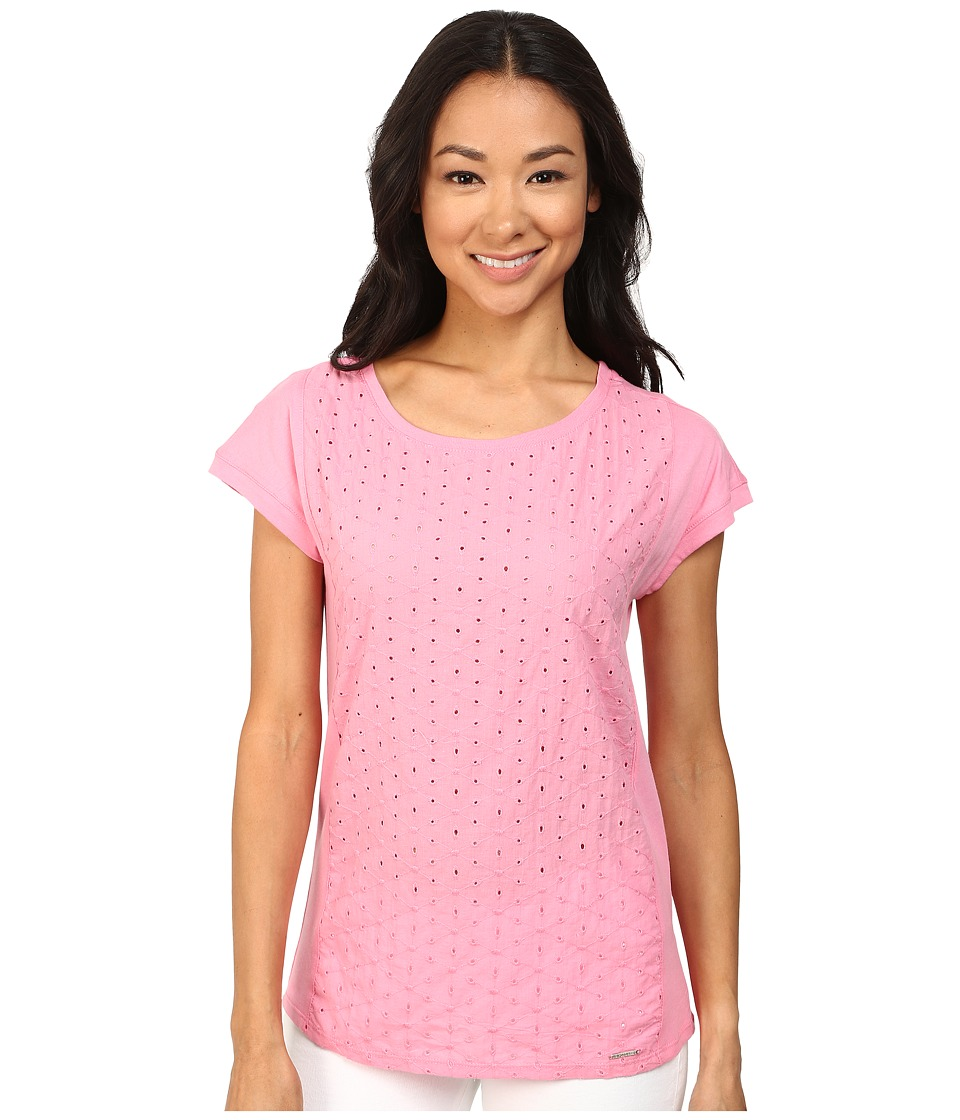 U.S. POLO ASSN. - Eyelet T-Shirt (Morning Glory) Women's T Shirt