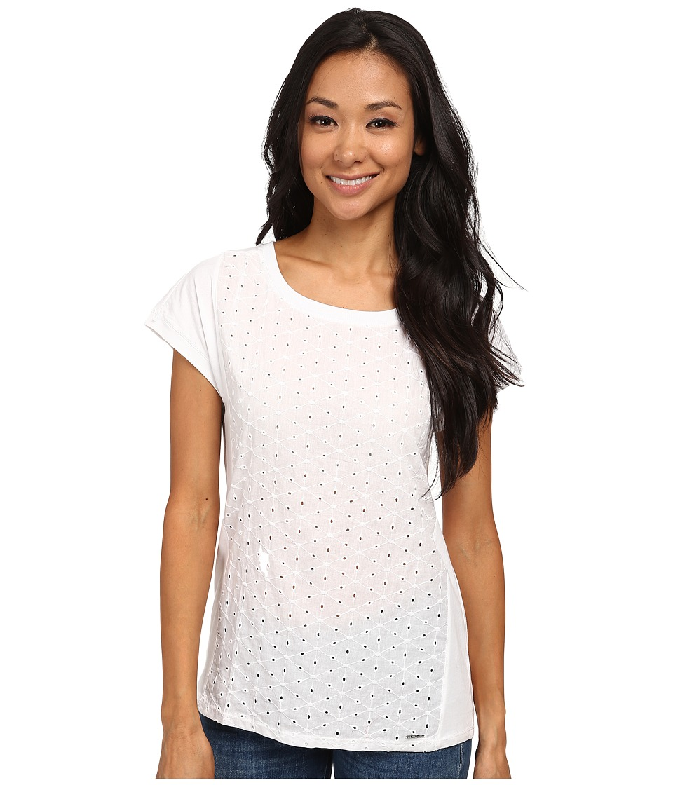 U.S. POLO ASSN. - Eyelet T-Shirt (Optic White) Women