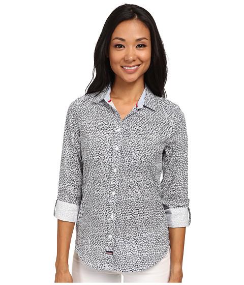 U.S. POLO ASSN. - Daisy Shirt (Tribal Navy) Women's Long Sleeve Button Up