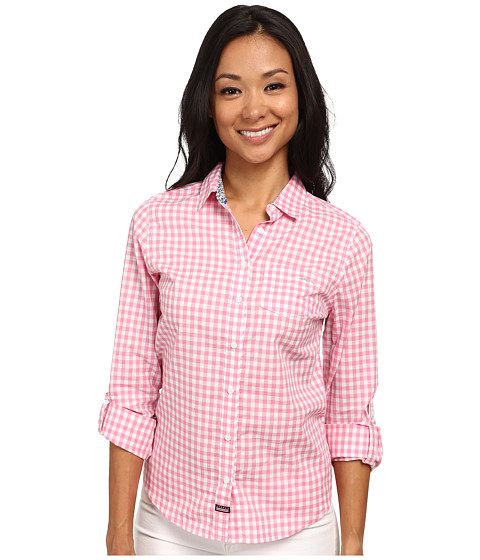 U.S. POLO ASSN. - Long Sleeve Gingham Shirt (Morning Glory) Women