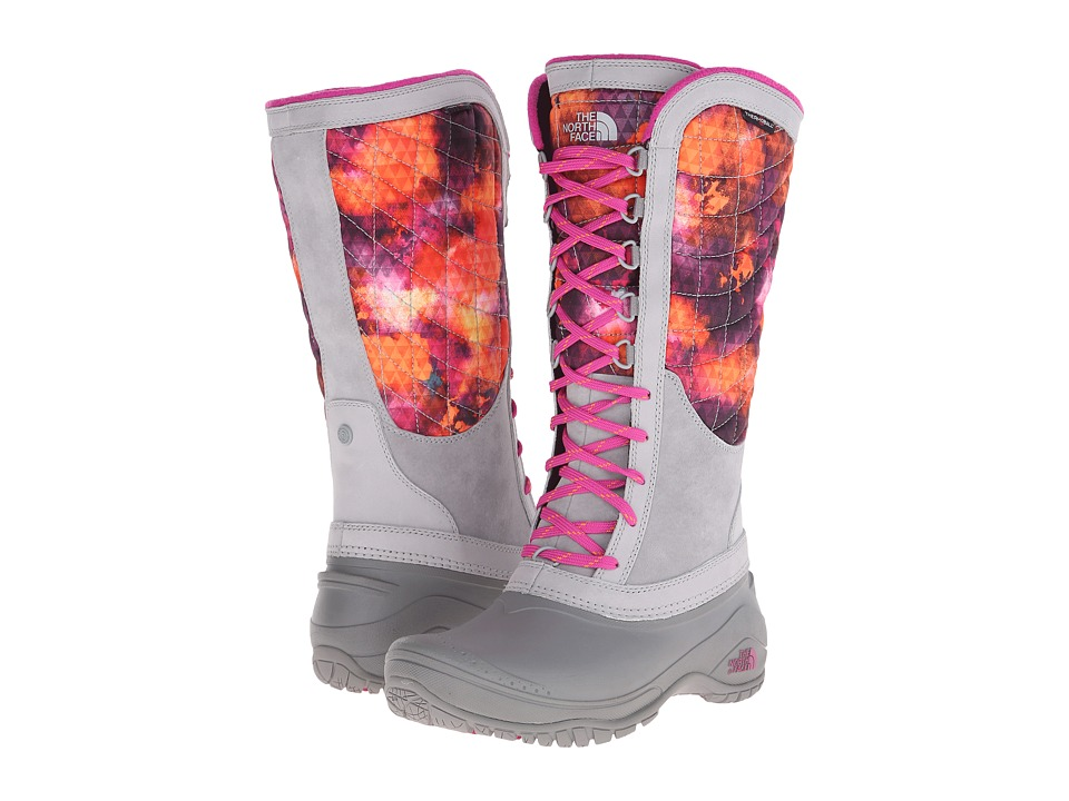 The North Face - ThermoBall Utility (Tessellated Floral Print/Luminous Pink) Women's Boots