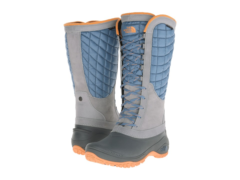 The North Face - ThermoBall Utility (Cool Blue/Impact Orange) Women's Boots