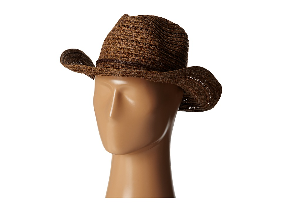 San Diego Hat Company - PBC1034 Open Weave Cowboy Hat w/ Braided Trim (Black) Traditional Hats