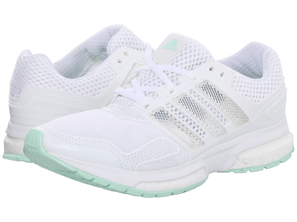 adidas Running - Response Boost 2 Techfit (White/Frozen Green) Women's Running Shoes