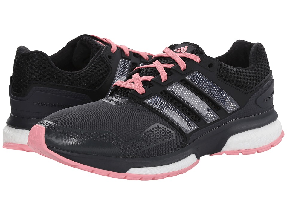 adidas Running - Response Boost 2 Techfit (Dark Grey/Black/Super Pop) Women's Running Shoes