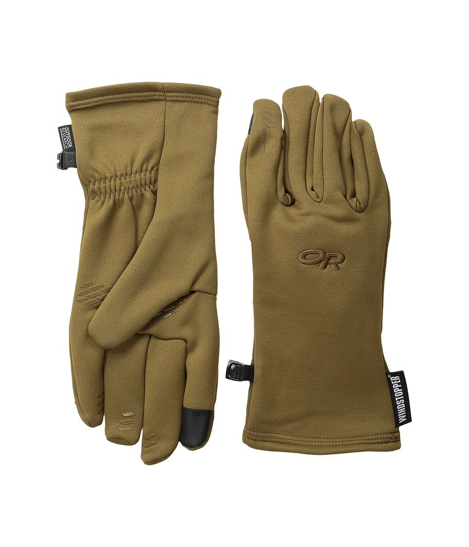 Outdoor Research - Backstop Sensor Gloves (Coyote) Extreme Cold Weather Gloves