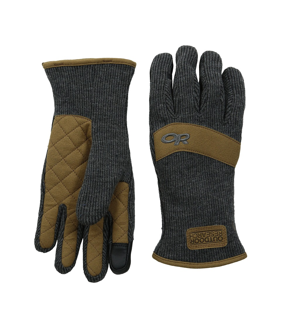 Outdoor Research - Exit Sensor Gloves (Charcoal) Extreme Cold Weather Gloves