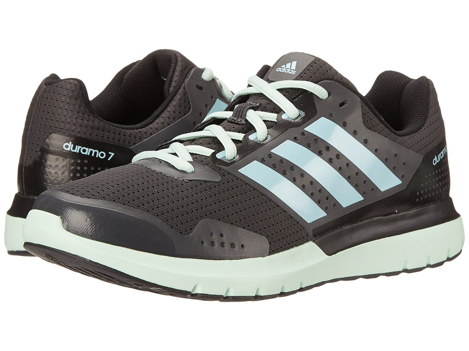 adidas Running - Duramo 7 (Dark Grey Heather Solid Grey/Frozen Blue/Frozen Green) Women's Running Shoes
