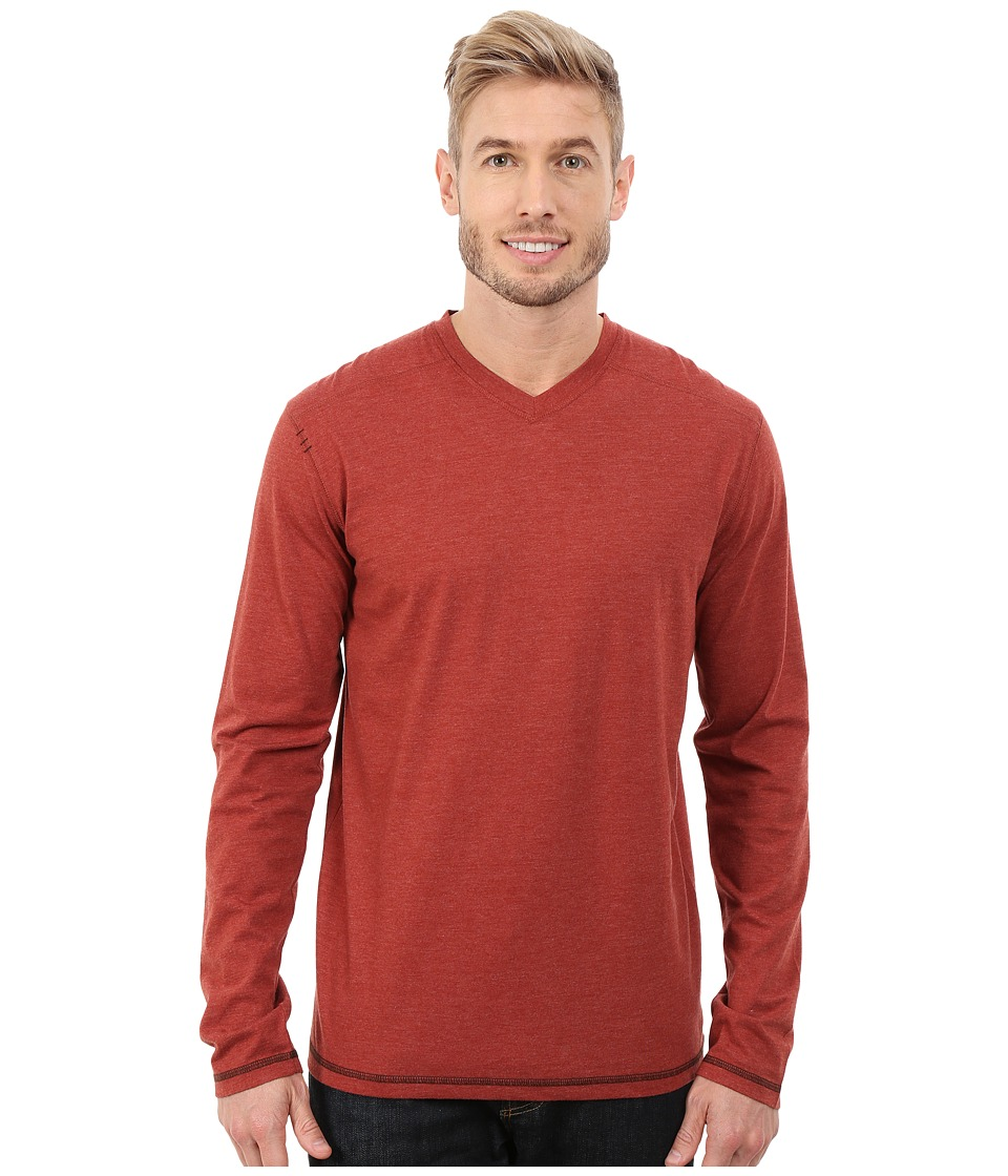 Ecoths - McKinney L/S Pull-Over (Russet Brown) Men's T Shirt