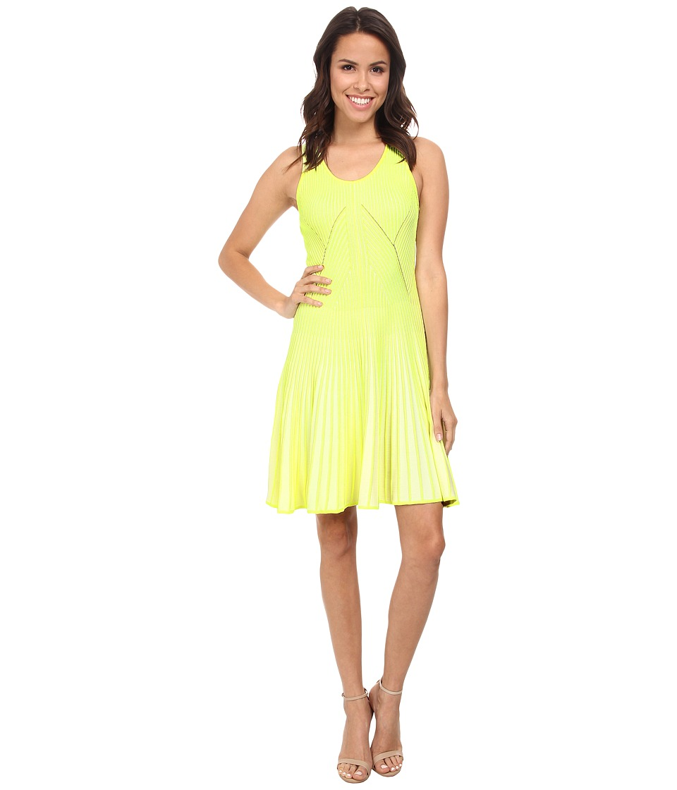 CATHERINE Catherine Malandrino - Vanna Dress (Neon Jaune/Blanc) Women's Dress
