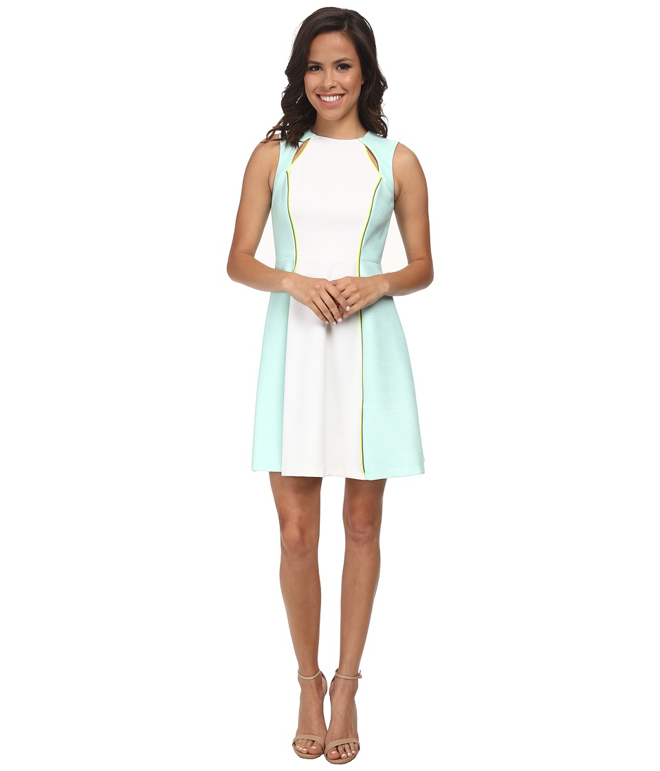 CATHERINE Catherine Malandrino - Gardenia Dress (Blanc/Sky) Women's Dress