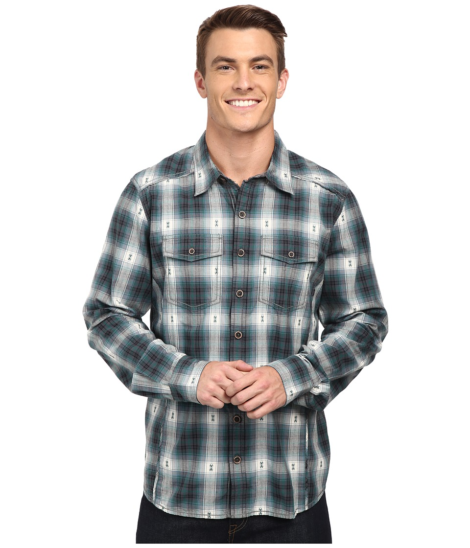 Ecoths Leander Long Sleeve Shirt Phantom Mens Long Sleeve Button Up