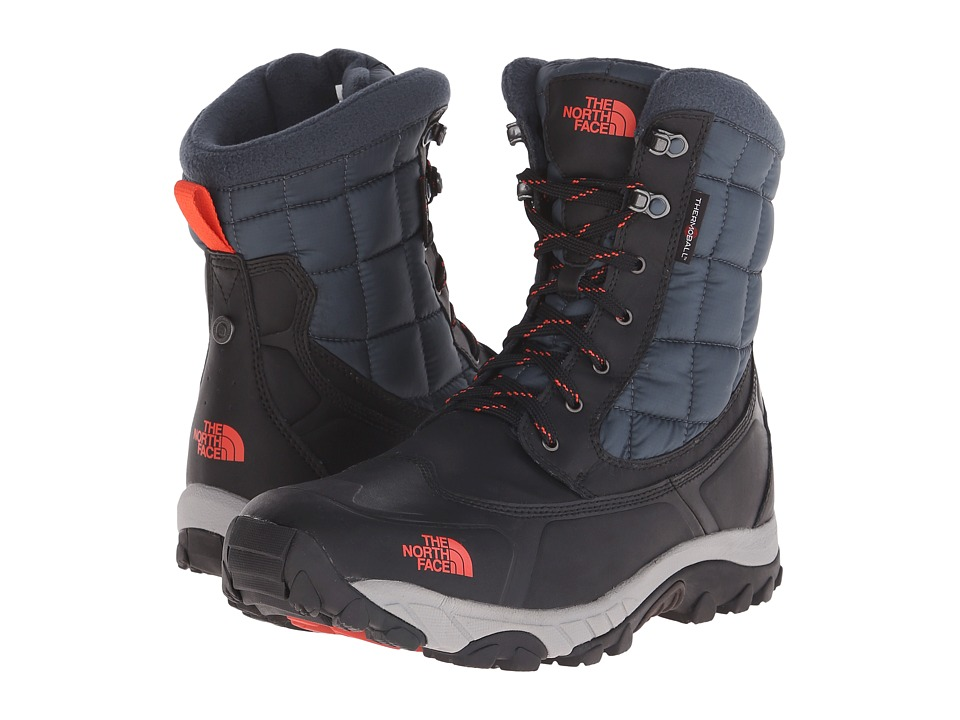The North Face - ThermoBall Utility (Phantom Grey/Valencia Orange) Men's Boots