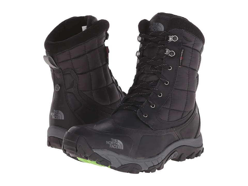The North Face - ThermoBall Utility (TNF Black/Power Green) Men's Boots
