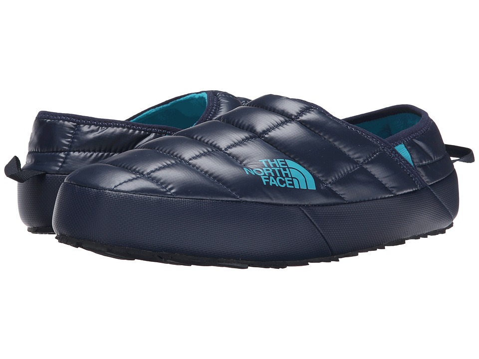 The North Face - ThermoBall Traction Mule II (Shiny Cosmic Blue/Enamel Blue) Men's Slip on Shoes