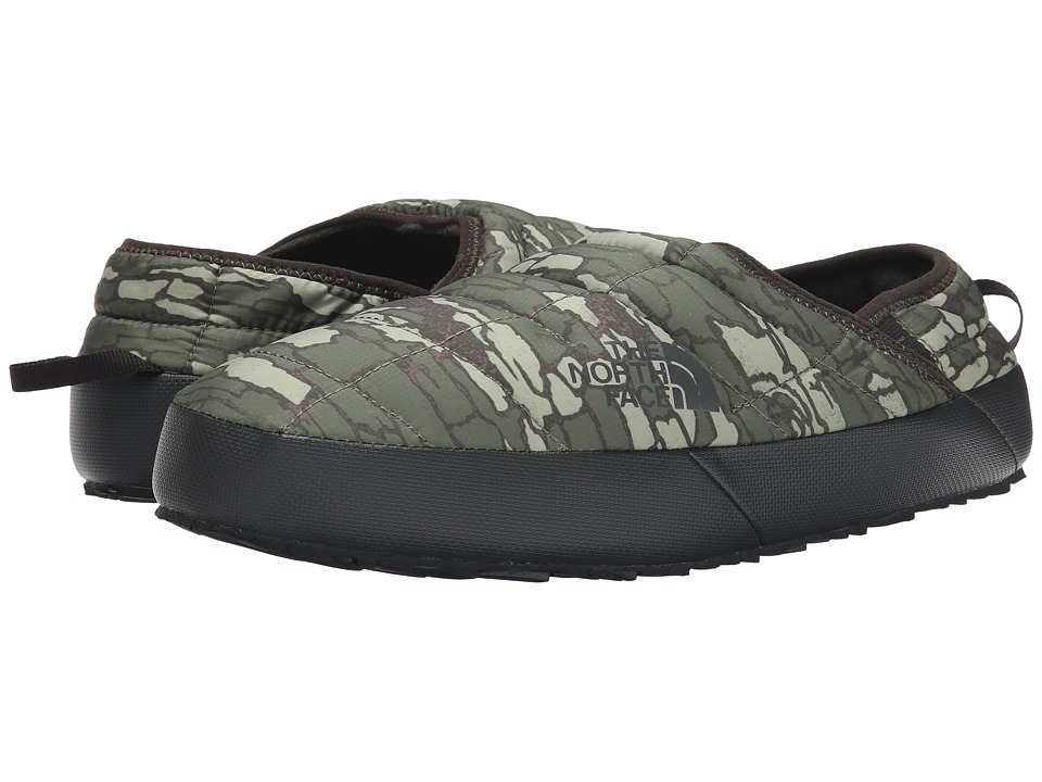 The North Face - ThermoBall Traction Mule II (Tree Bark Camo Print/TNF Black) Men