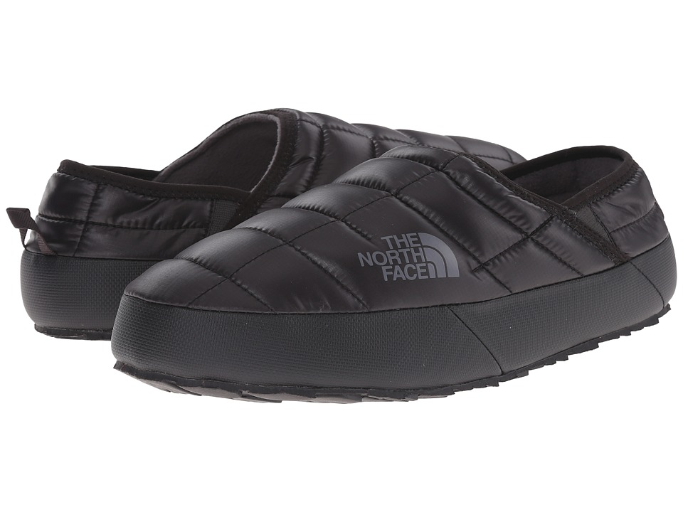 The North Face - ThermoBall Traction Mule II (Shiny TNF Black/Zinc Grey) Men's Slip on Shoes