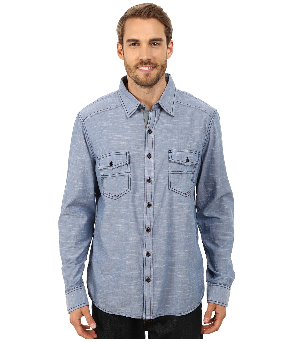 Ecoths - Soren Long Sleeve Shirt (Ensign Blue) Men