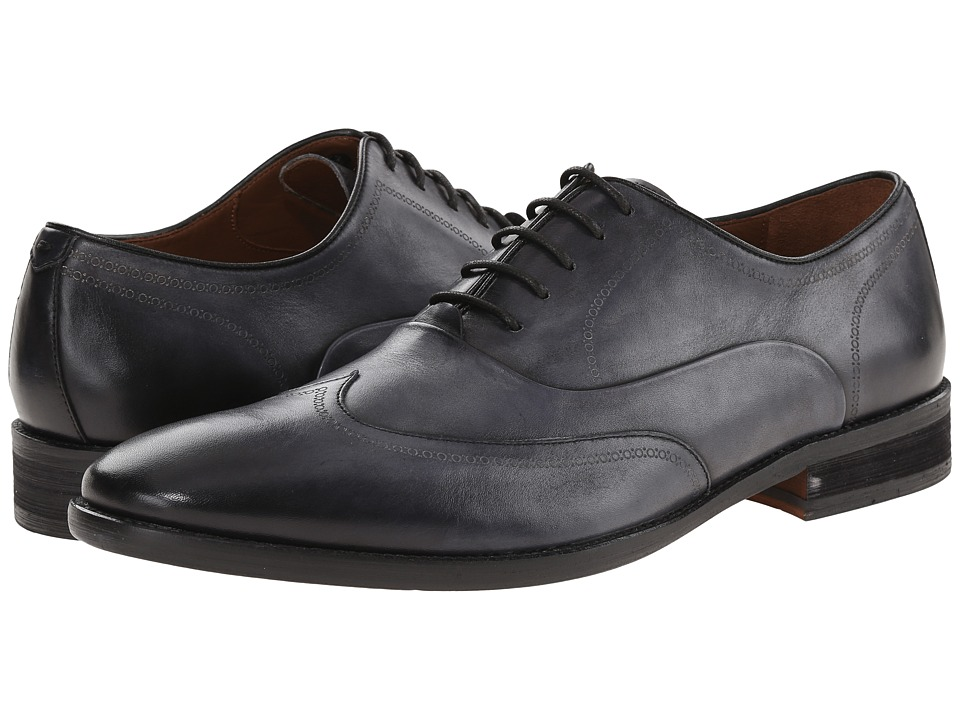 John Varvatos - Staley Wingtip (Lead 1) Men's Lace Up Wing Tip Shoes