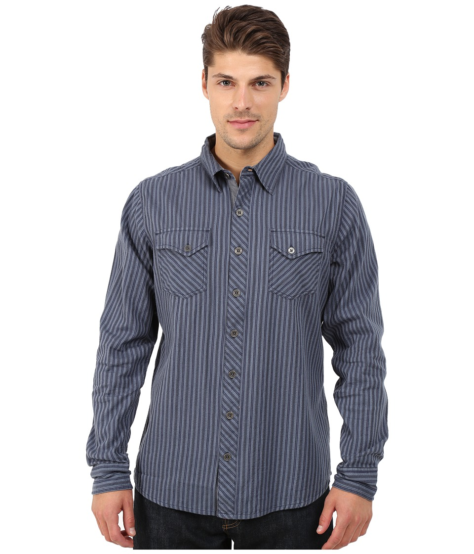 Ecoths - Wallace Long Sleeve Shirt (Dress Blues) Men