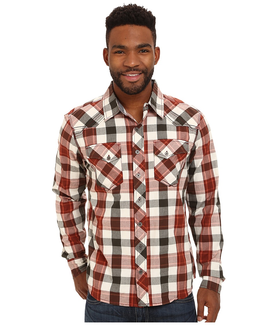 Ecoths - Milo Long Sleeve Shirt (Russet Brown) Men's Long Sleeve Button Up