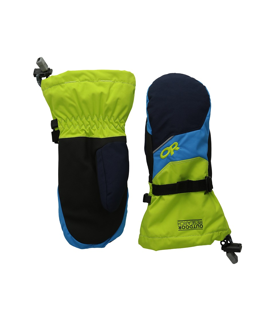 Outdoor Research - Adrenaline Mitts (Little Kid/Big Kid) (Night/Lemongrass/Hydro) Extreme Cold Weather Gloves
