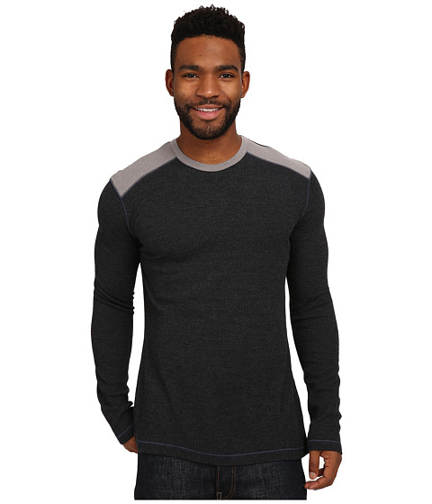 Ecoths - Aaron Long Sleeve Pullover (Phantom) Men's Long Sleeve Pullover