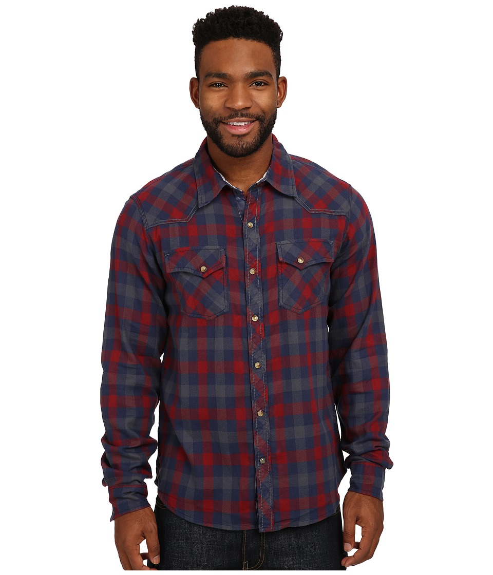 Ecoths - Rucker Long Sleeve Shirt (Rio Red) Men's Long Sleeve Button Up