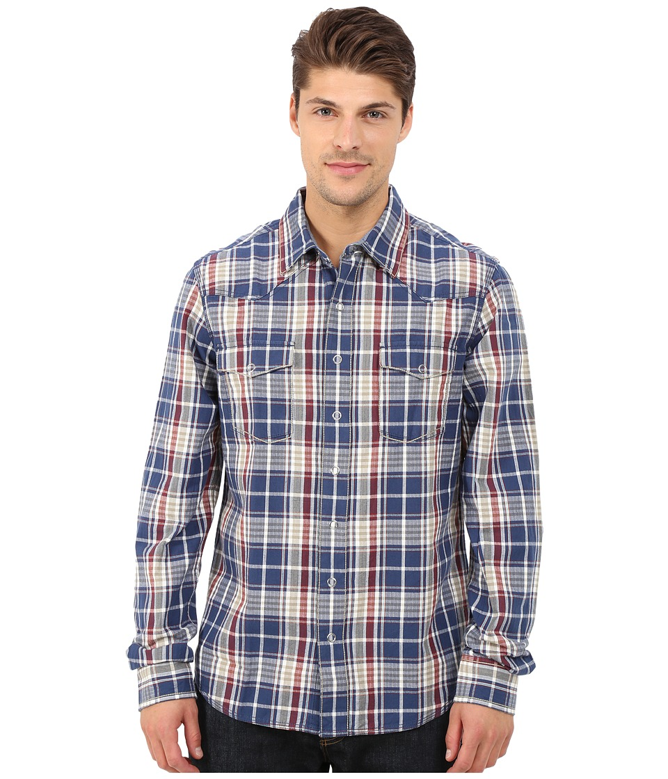 Ecoths - Chapman Long Sleeve Shirt (Ensign Blue) Men's Long Sleeve Button Up