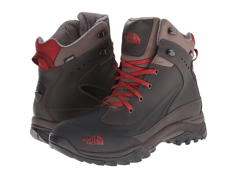 The North Face - Chilkat Tech (Coffee Brown/Rosewood Red) Men's Hiking Boots