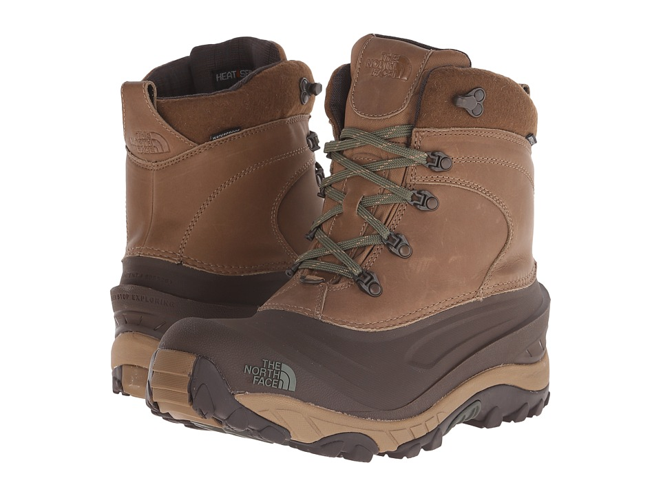 The North Face - Chilkat II Luxe (Utility Brown/Beetle Green) Men's Cold Weather Boots