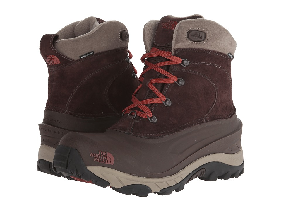 The North Face - Chilkat II (Mulch Brown/Brick House Red) Men's Cold Weather Boots