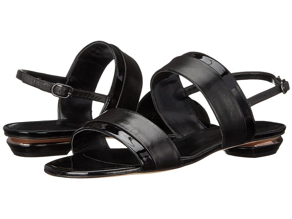 Vaneli - Bijan (Black Nappa/Black Smack Patent) Women's Sandals