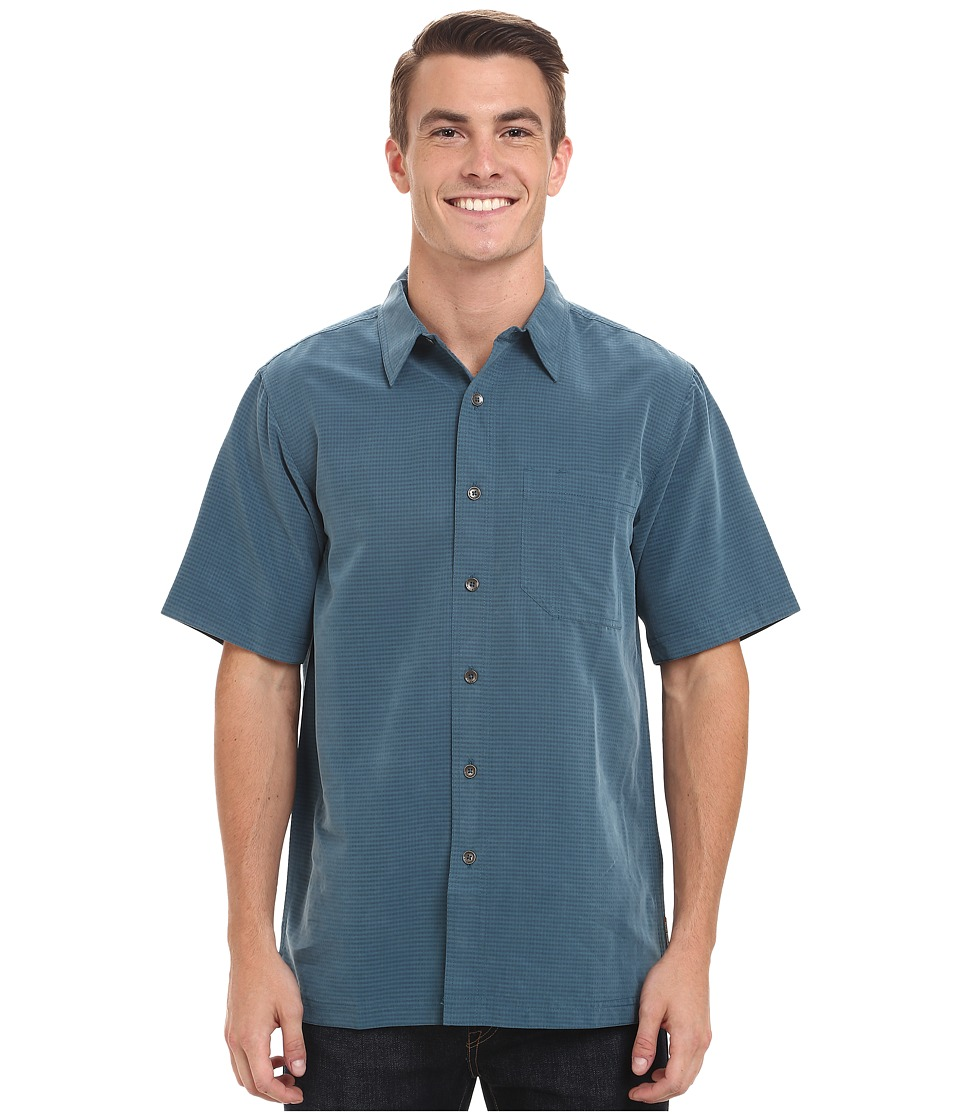 Royal Robbins - Desert Pucker S/S Shirt (Phoenix Blue) Men's Short Sleeve Button Up