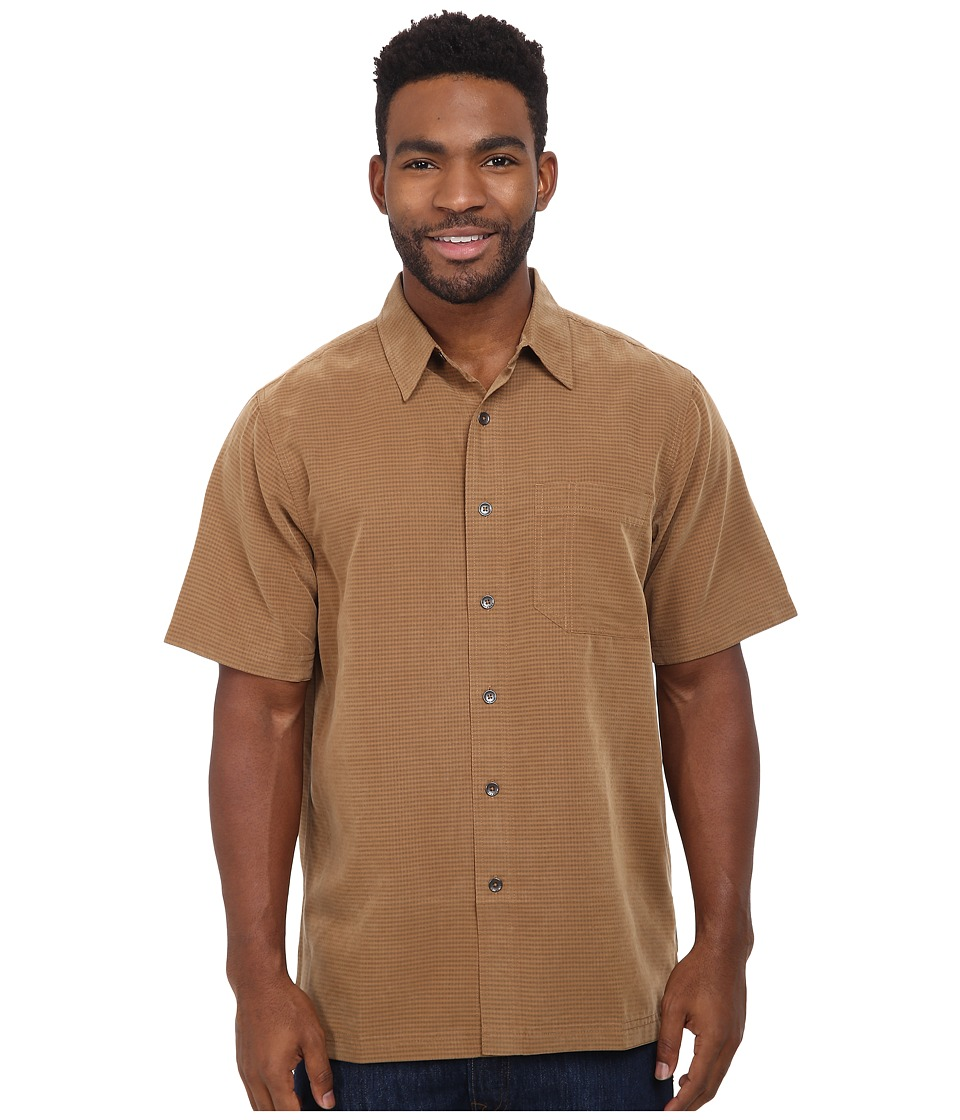 Royal Robbins - Desert Pucker S/S Shirt (Walnut) Men's Short Sleeve Button Up