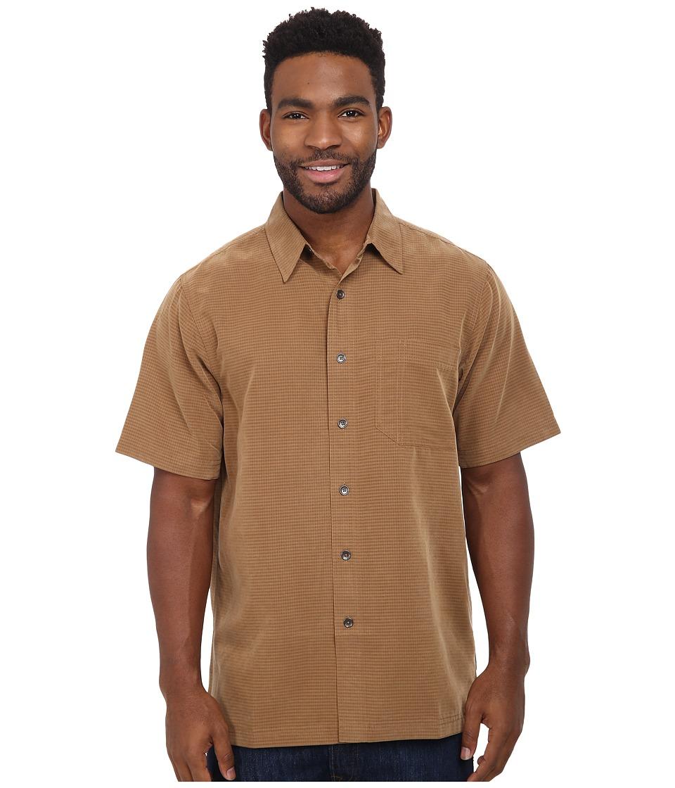 Royal Robbins - Desert Pucker S/S Shirt (Walnut) Men's Short Sleeve Button Up