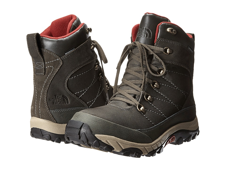 The North Face - Chilkat Nylon (Black Ink Green/Brick House Red) Men's Boots