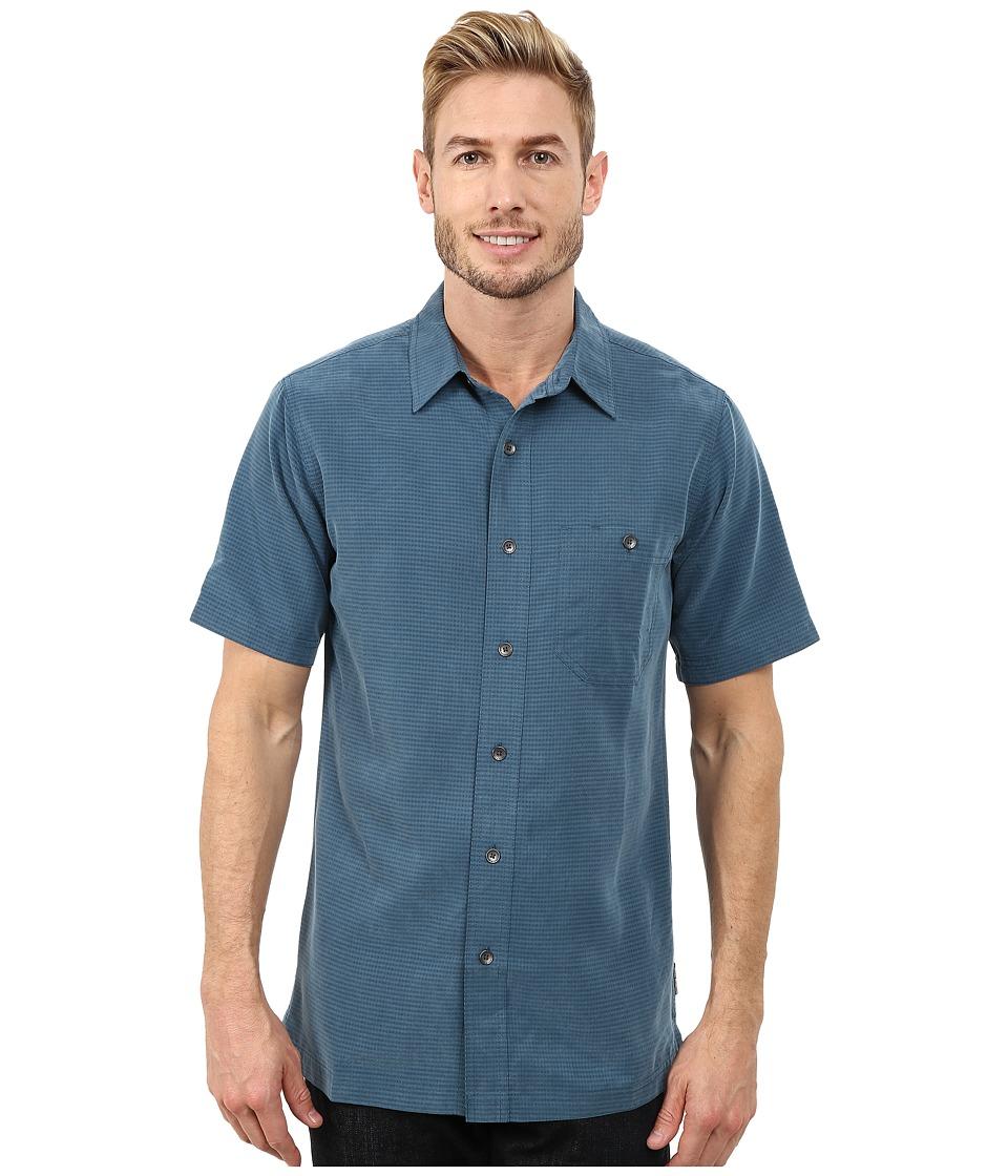 Royal Robbins - Mojave Desert Pucker S/S (Phoenix Blue) Men's Short Sleeve Button Up