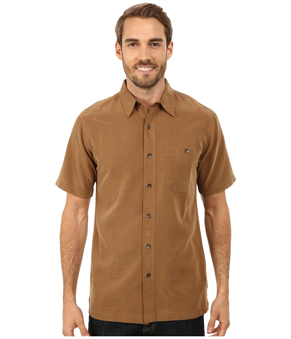 Royal Robbins - Mojave Desert Pucker S/S (Walnut) Men's Short Sleeve Button Up