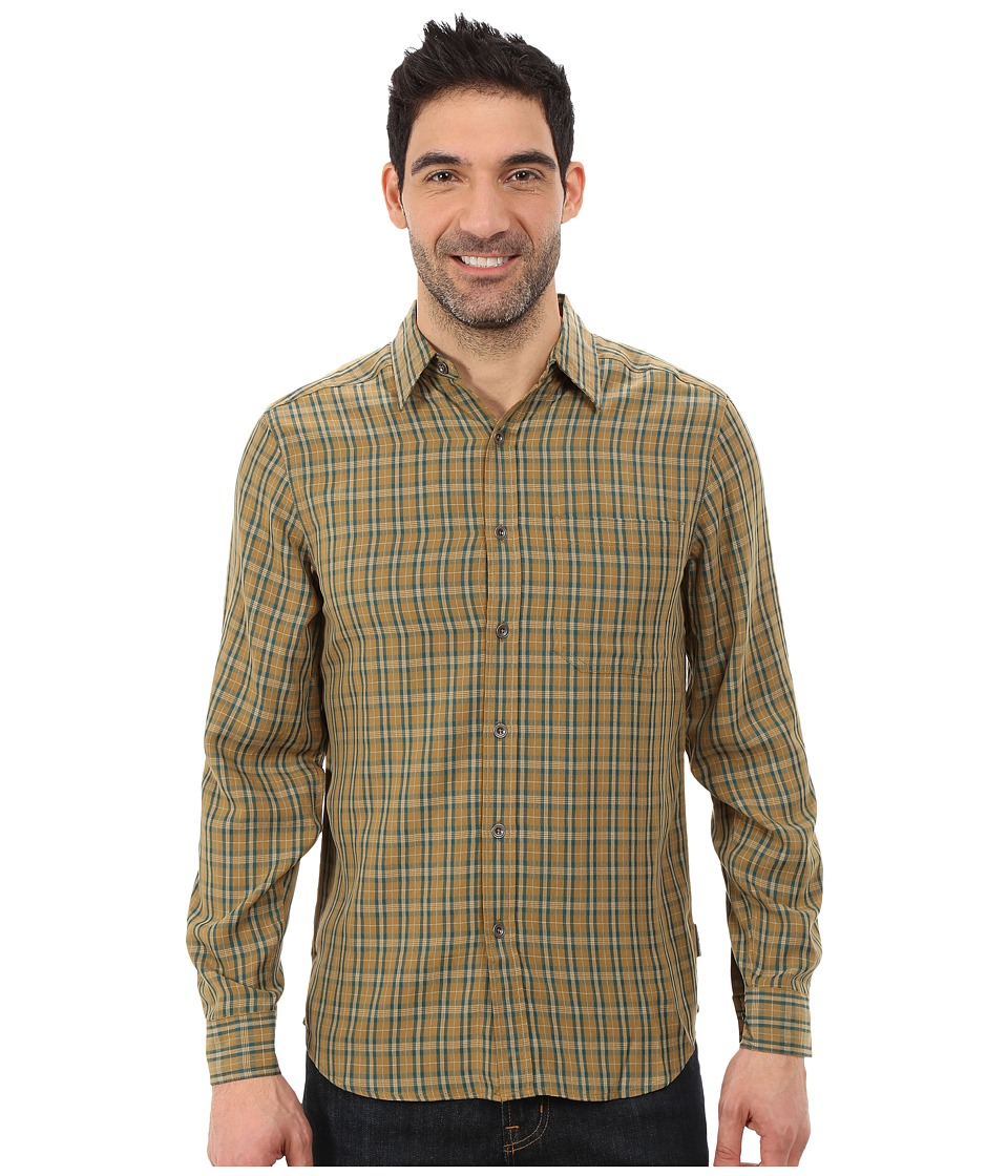 Royal Robbins - Hemlock Herringbone Long Sleeve Shirt (Fatigue Green) Men's Long Sleeve Button Up