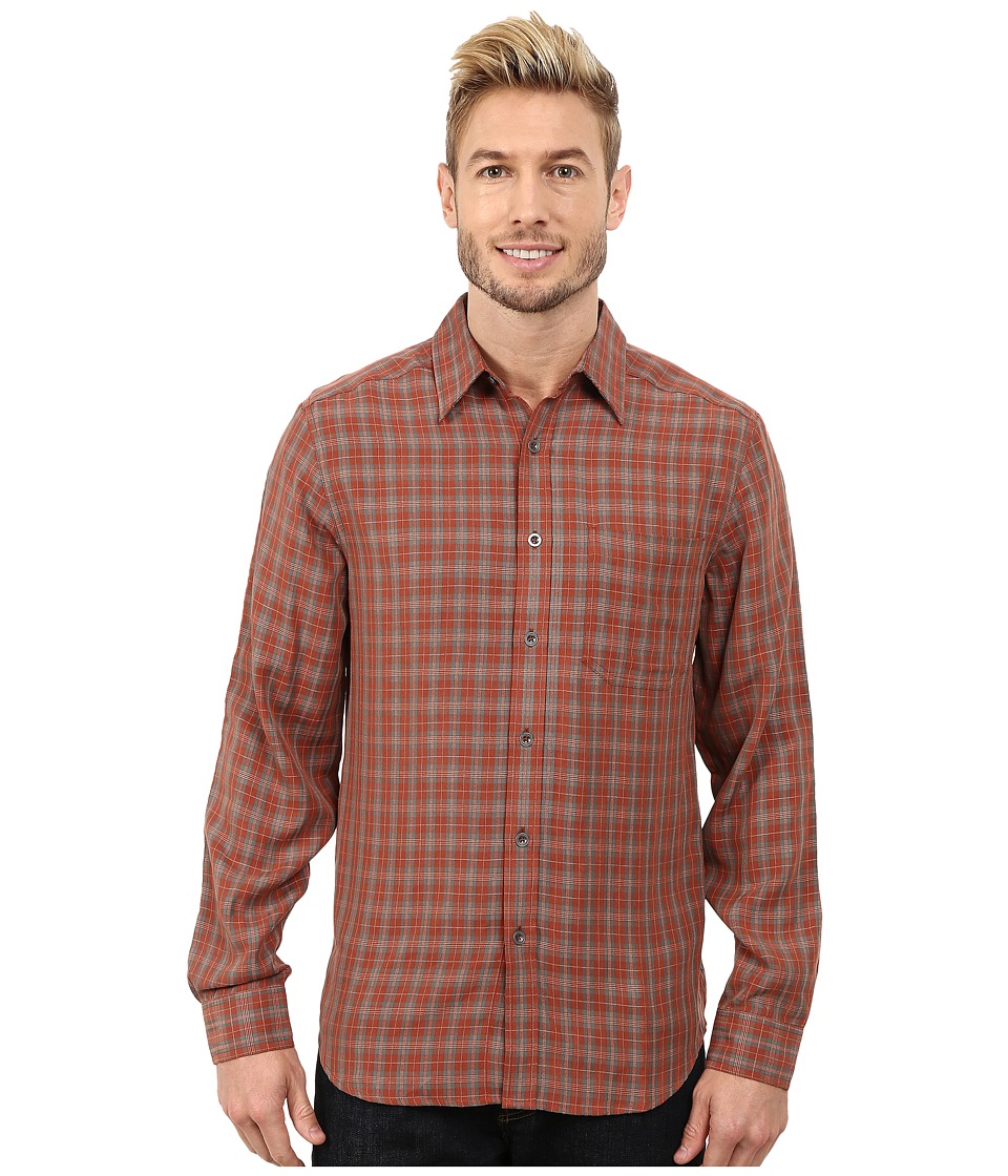 Royal Robbins - Hemlock Herringbone Long Sleeve Shirt (Dark Ember) Men