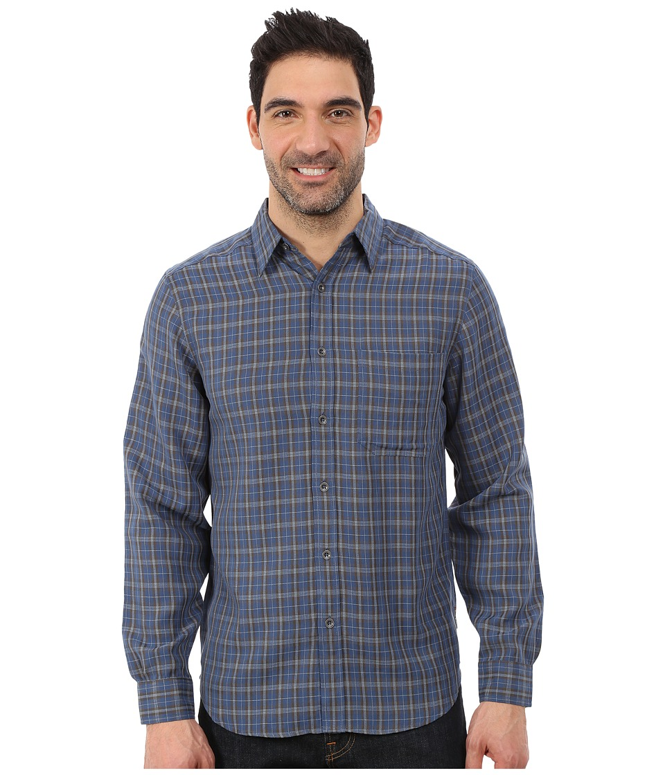 Royal Robbins - Hemlock Herringbone Long Sleeve Shirt (Lunar Blue) Men's Long Sleeve Button Up