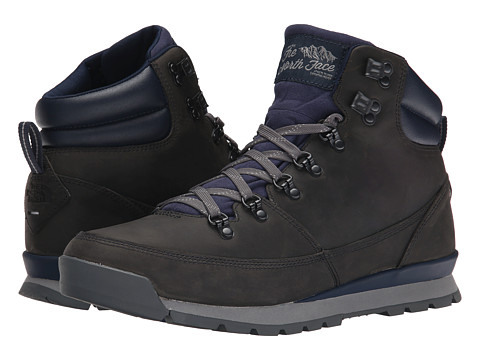 The North Face - Back-To-Berkeley Redux Leather (Trans) (Zinc Grey/Cosmic Blue) Men's Hiking Boots