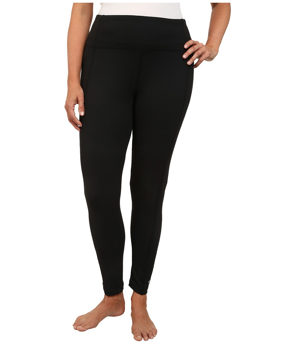 Marika Curves - Plus Size High Rise Tummy Control Leggings (Black) Women's Workout
