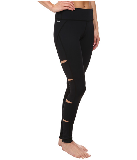 Tonic - Peak Cutout Leggings (Black) Women's Casual Pants