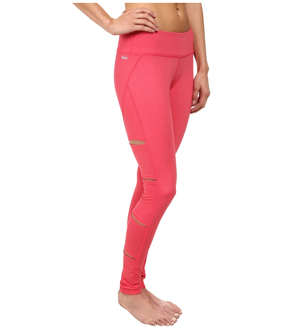 Tonic - Peak Cutout Leggings (Geranium Mist) Women's Casual Pants