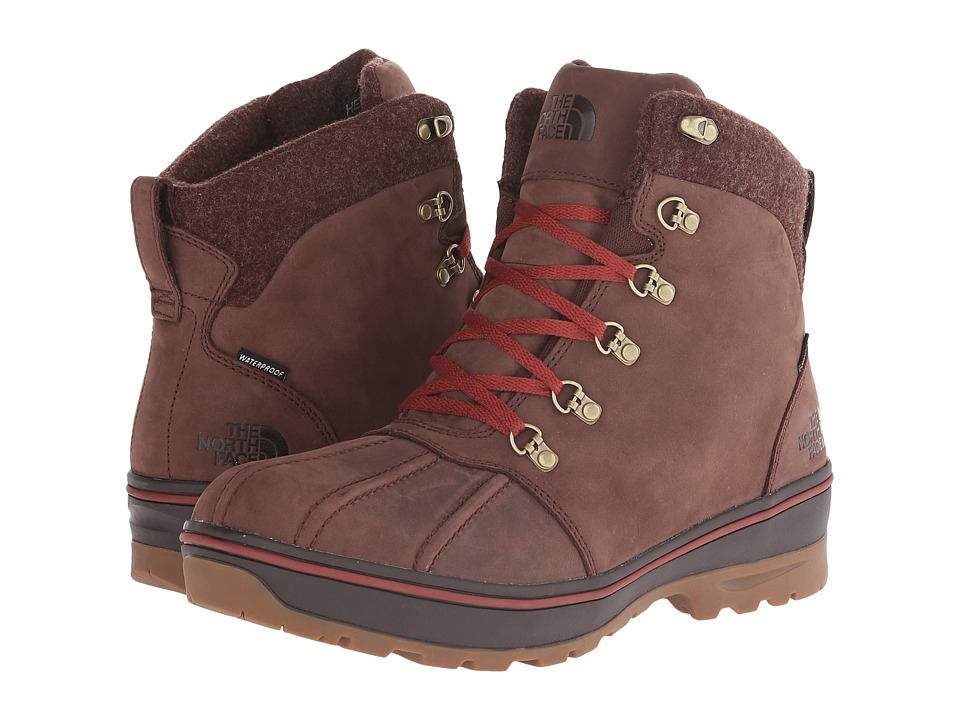 The North Face - Ballard Duck Boot (Butter Rum Brown/Brick House Red) Men's Hiking Boots