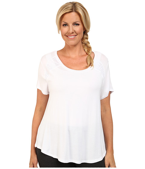 Marika Curves - Plus Size Ella Short Sleeve Tee (White) Women